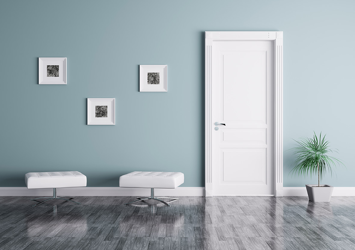 Portes peintes d co solutions for Photo porte interieur maison